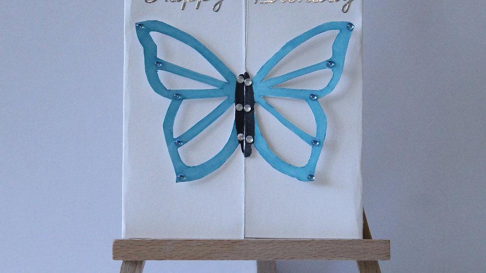 3D Butterfly Birthday Card