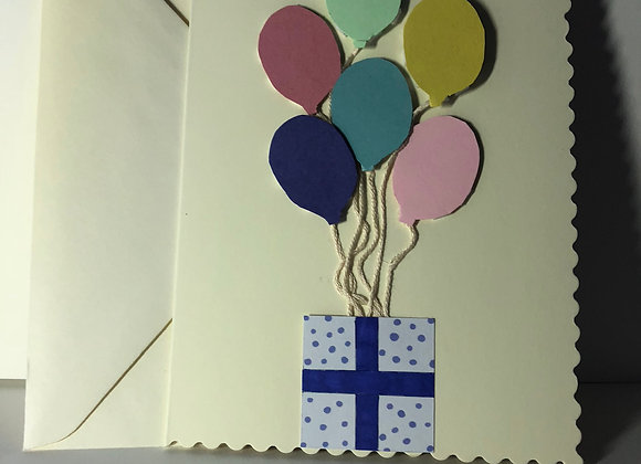 3D Balloon Birthday Card