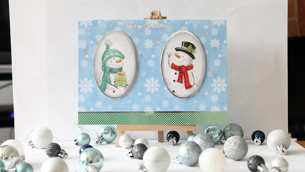 Basic Snowmen Christmas Card