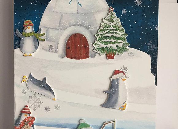 Playtime Penguins Christmas Card