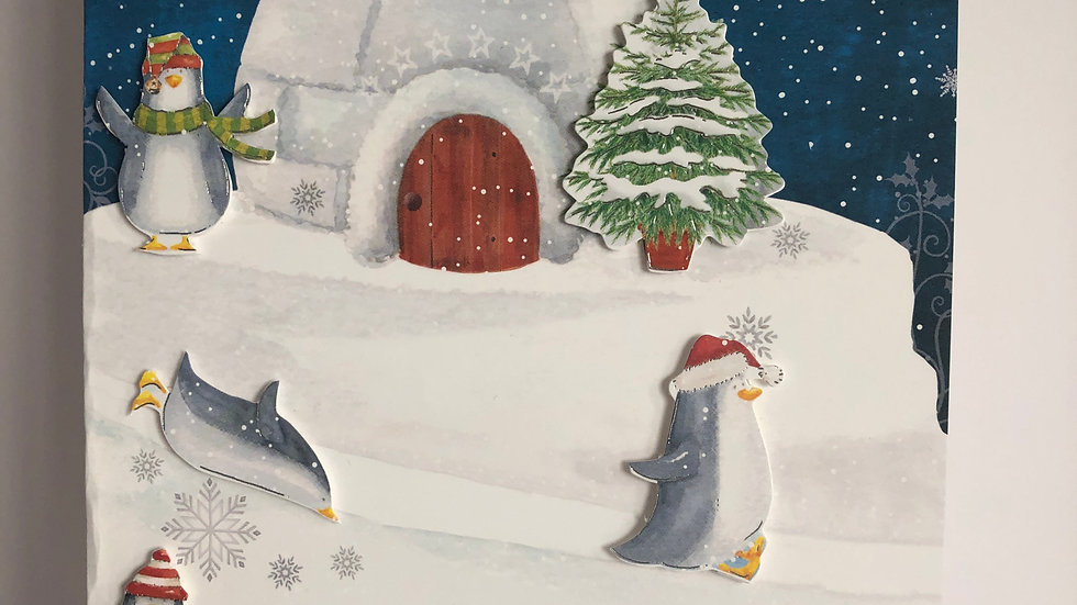 Playtime Penguins Christmas Card
