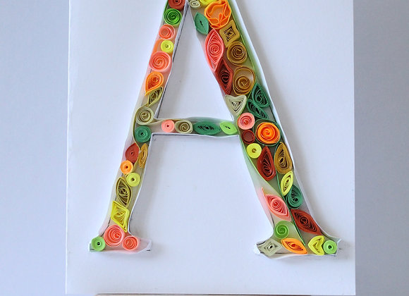 "Paper Quilled ""A"" Card"