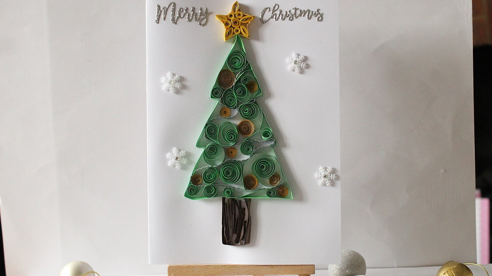 Paper Quilled Christmas Tree Card