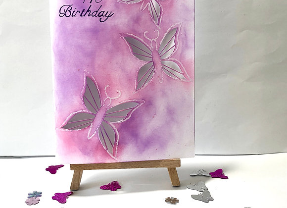 Butterfly Cut-out with Inked Background