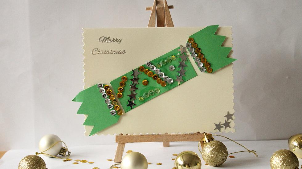 Sparkly Christmas Cracker Christmas Card