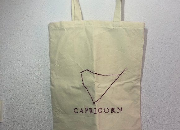 Embroidered Star Sign Tote Bag Capricorn