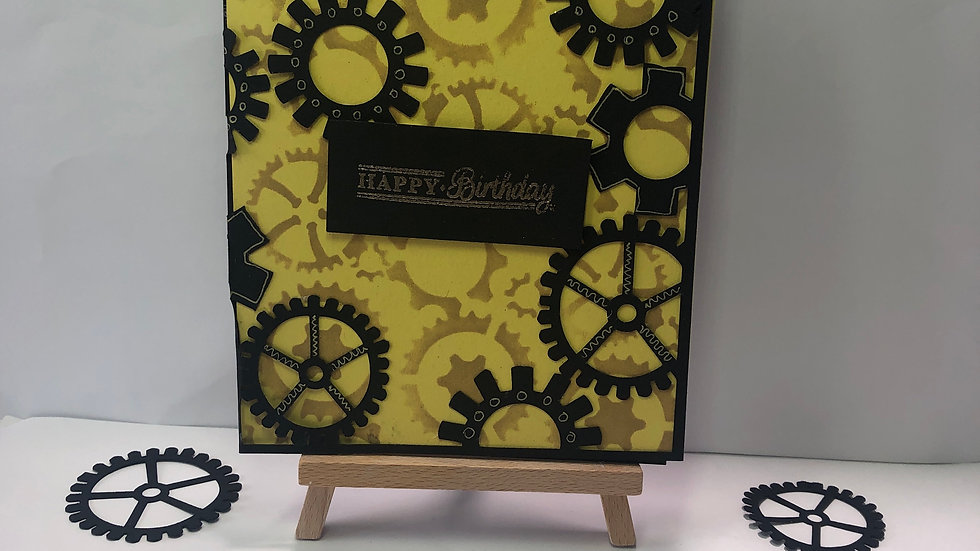 Cogs Work Birthday Card