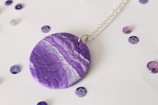 Embossed Marbled Pendant