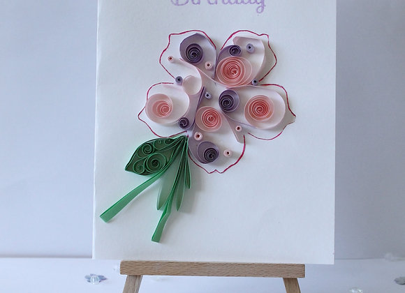 3d Paper Quilled Flower with Cutting Detail