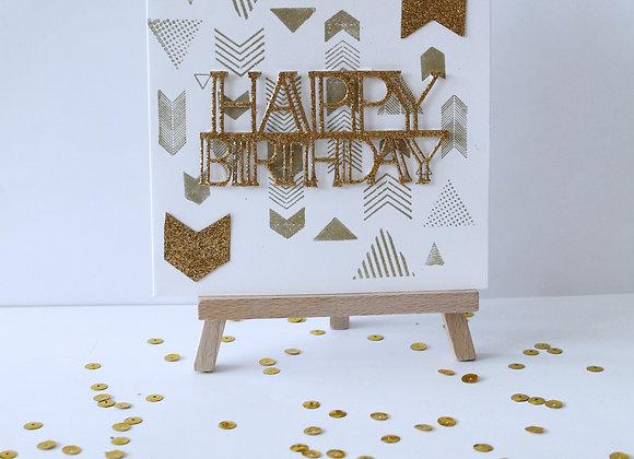 Gold Arrow Print Birthday Card