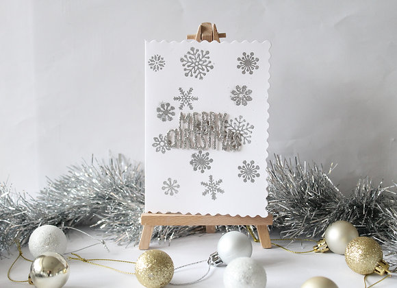 Heat Embossed Snowflake Card