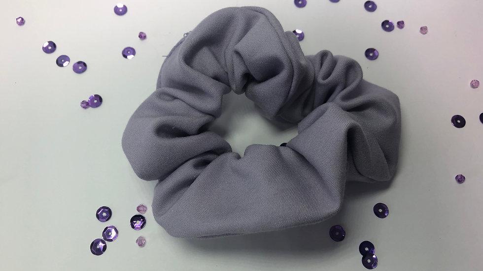 Purple Cotton Scrunchy