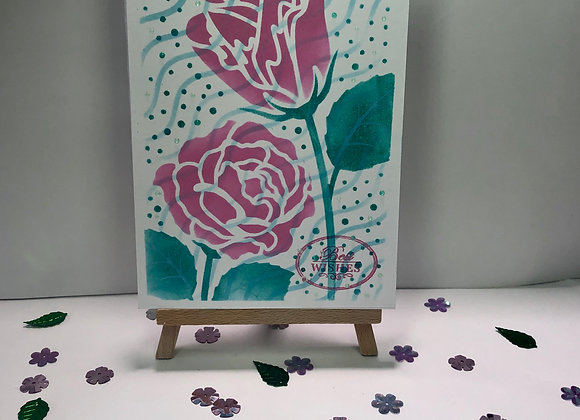 Layered Rose Best Wishes Card