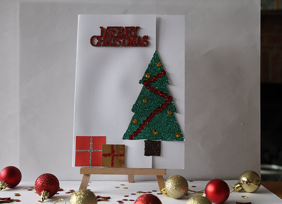 Cut-out Christmas Tree Card
