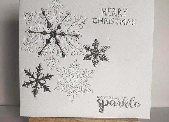 Embedded Snowflake Christmas Card