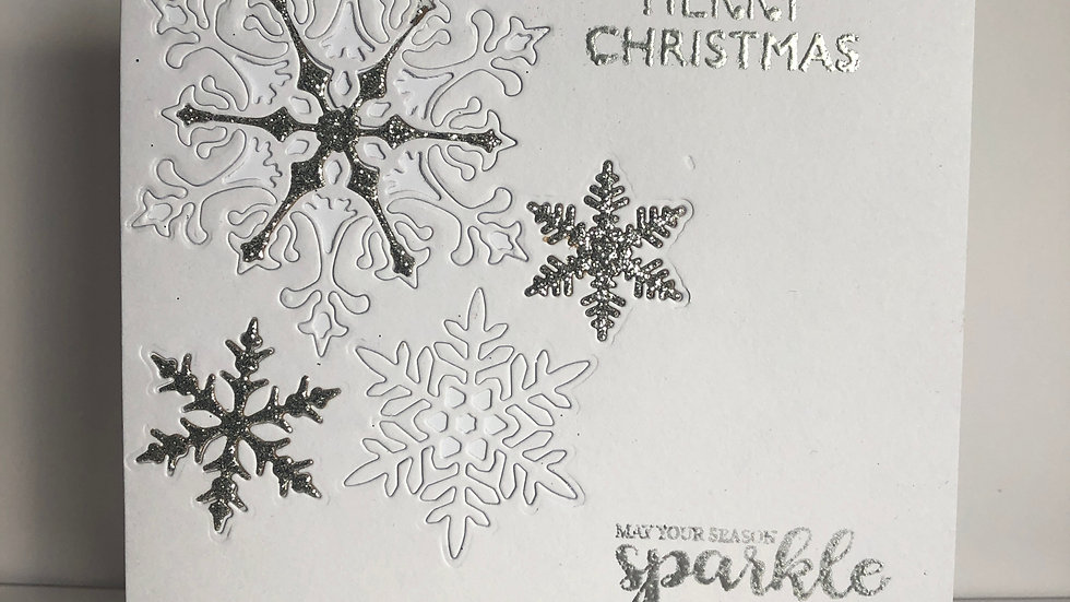 Embedded Snowflake Christmas Card