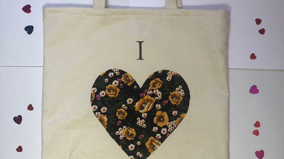 """I love Shopping"" Black Tote Bag"