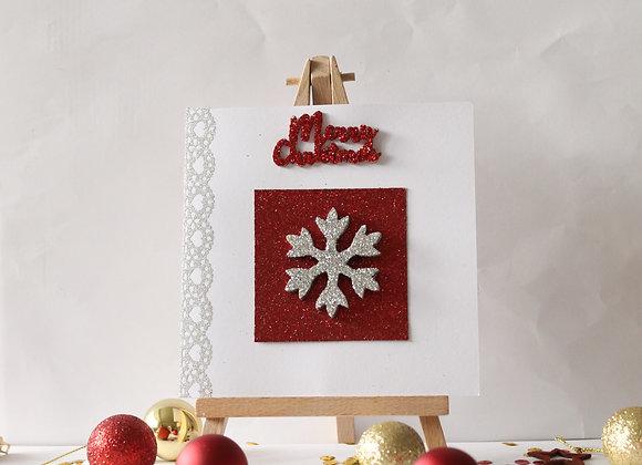 3D Snowflake Christmas Card