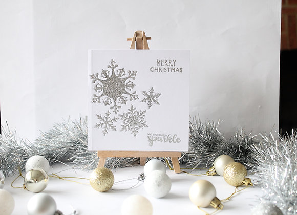 Embedded Snowflake Card