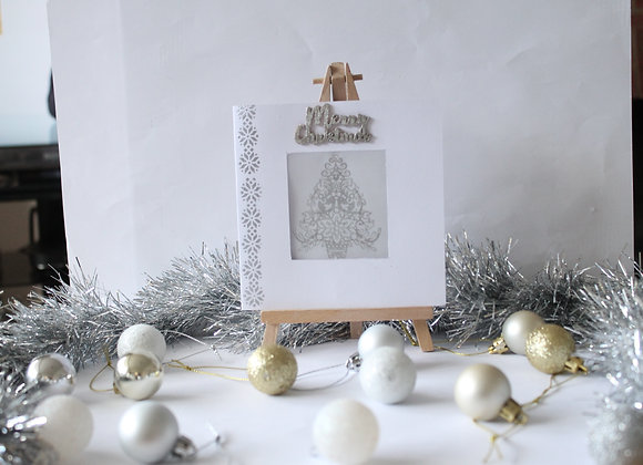 Heat Embossed Vellum Window Christmas Tree