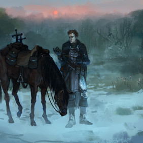 Edvann Rooke with Horse -WoW