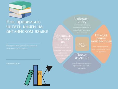 Расширение словарного запаса во время чтения книг на английском языке.