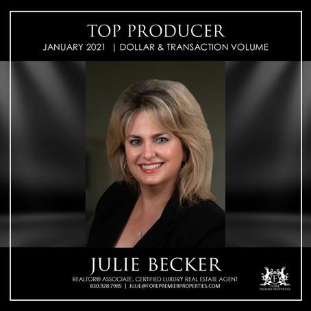 CONGRATULATIONS, JULIE BECKER