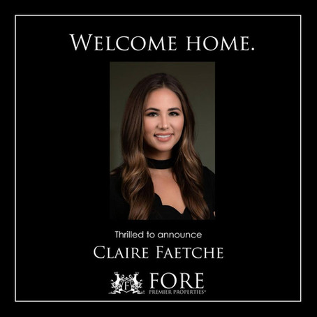 WELCOME HOME, CLAIRE FAETCHE