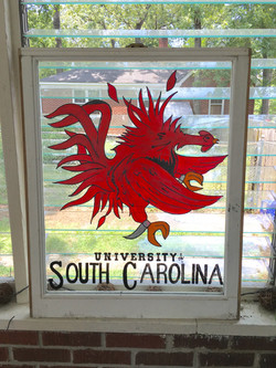 Gamecock Window (USC Lettering)