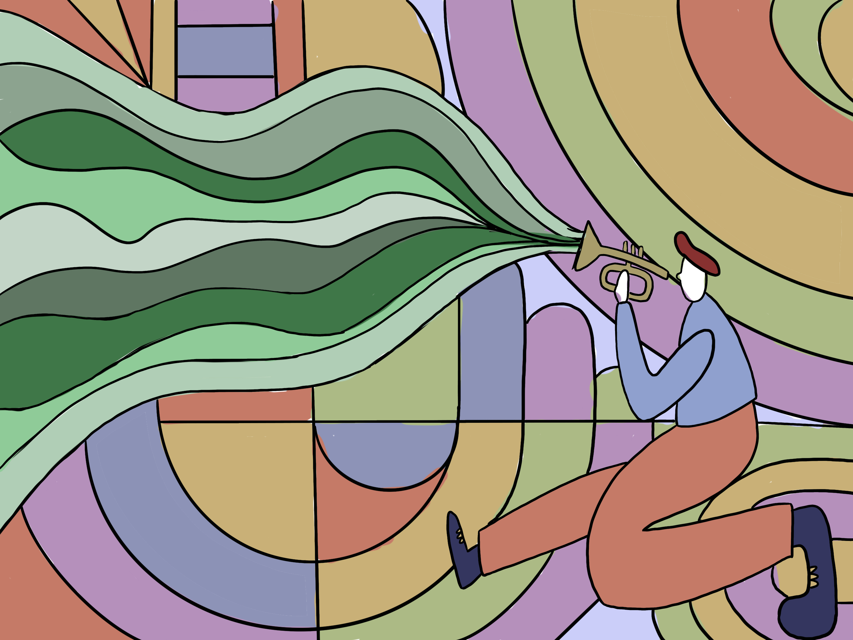 Dance to the Music Illustration