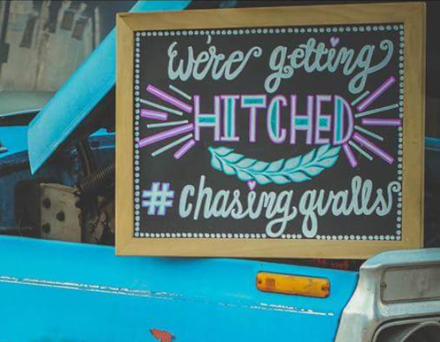 """Getting Hitched"" Chalkboard"