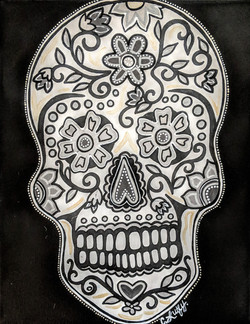 B&W Day of the Dead