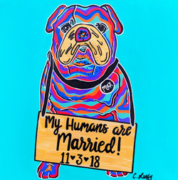 English Bulldog-Just Married!