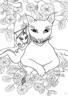 Myrra & Zebber B&W Colouring In Image1.j