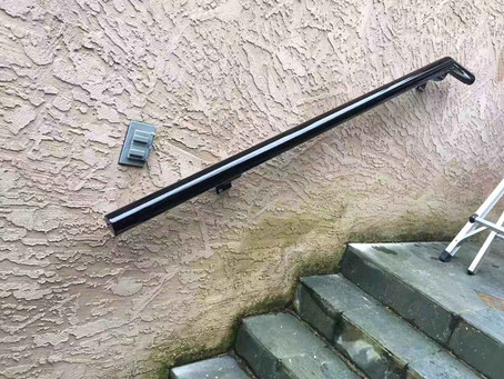Hand rail to meet insurance requirements