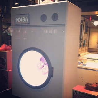 Washing Machine Display For Shoes