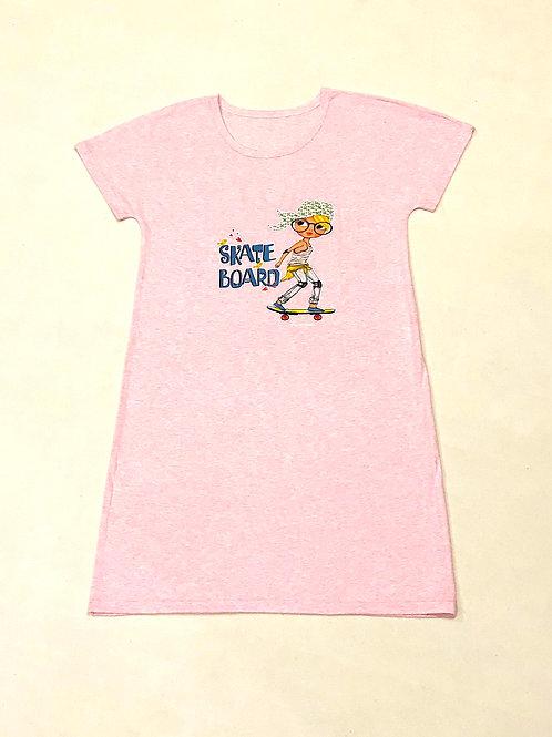 Туника-платье (розовый)