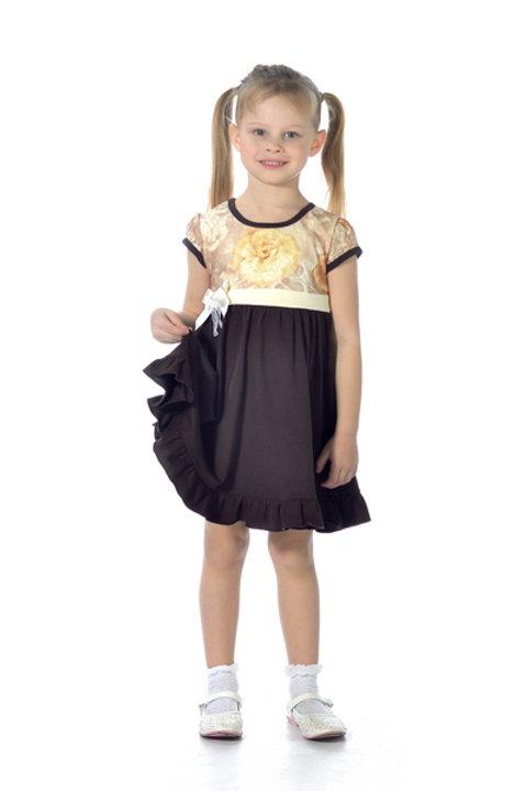 1001/1п-01 Платье детское (Шоколад/кружево)