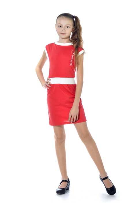 1006п-01 Платье детское (Красный)