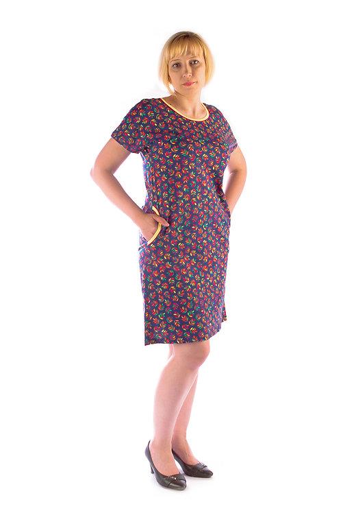 770-10/2 Платье домашнее(рябина)