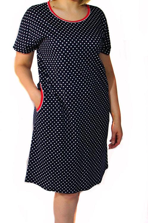 770-10 Платье домашнее (Т.синий)