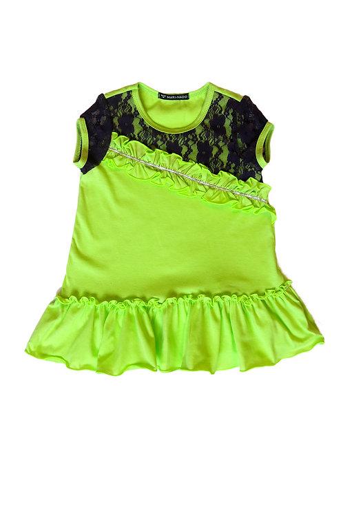 1013н-01 Платье детское (Салат./Кружево)