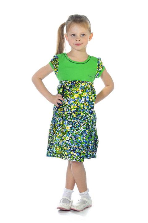 1002п-10а Платье детское (Зелёный)