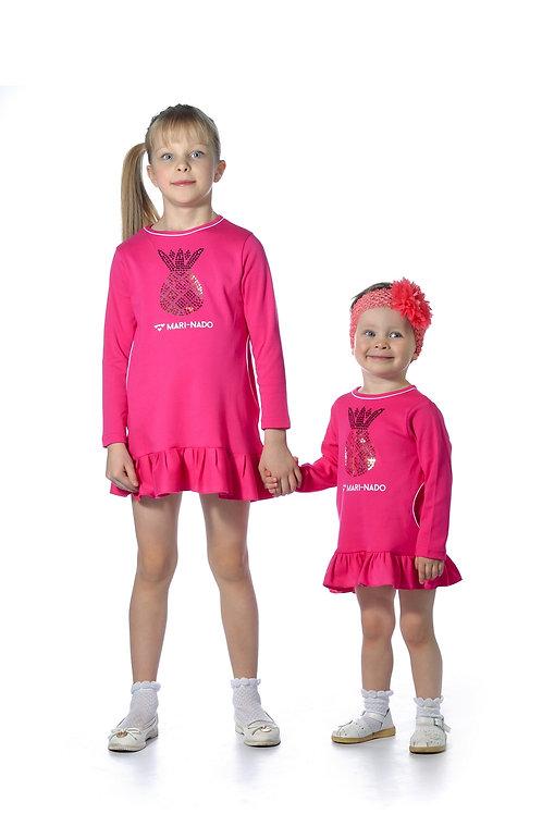 1008п-24 Платье детское (Фуксия)