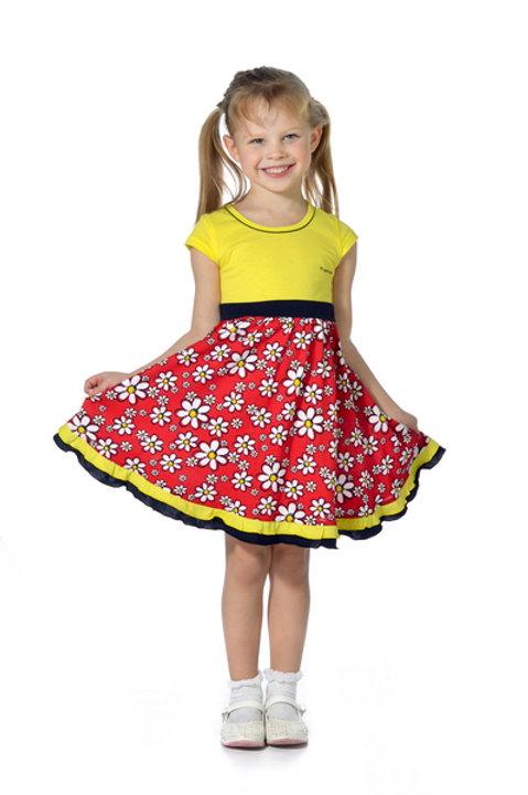 1001п-10а Платье детское (Красный)
