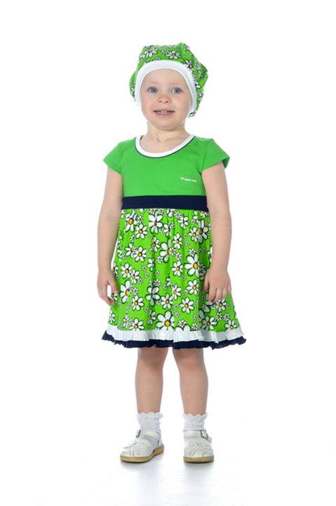 1001п-10а Платье детское (Зелёный)