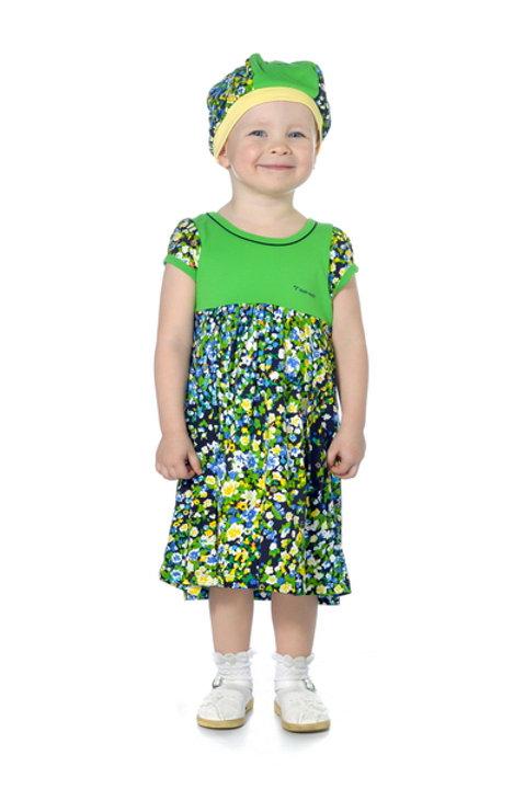 1002п-10 Платье детское (Зелёный)