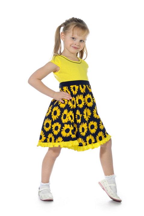 1001п-10а Платье детское (Подсолнухи)