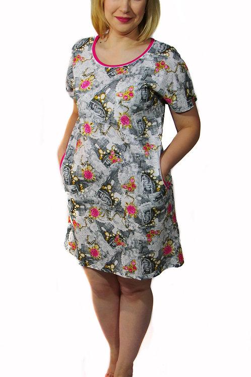 770-10 Платье домашнее (Джинс)