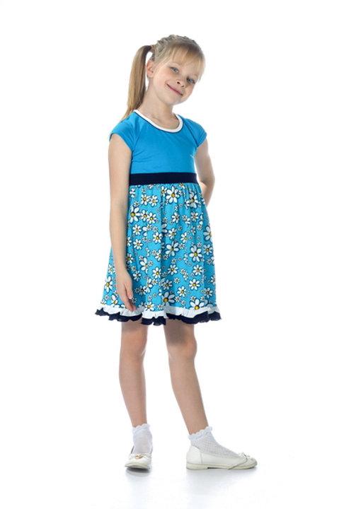 1001п-10а Платье детское (Бирюза)